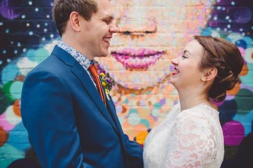 quirky colourful fun fazeley studios wedding birmingham