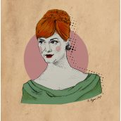 joan holloway mad men illustration by becky ryan