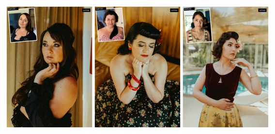 vintage makeover photography