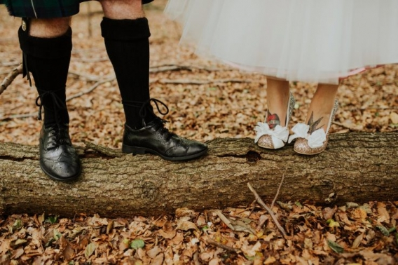Becky Ryan Photography irregular choice wedding shoes tattooed bride vintage wedding