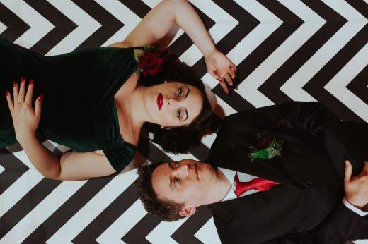 twin peaks wedding styled shoot
