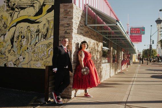 retro vegas wedding