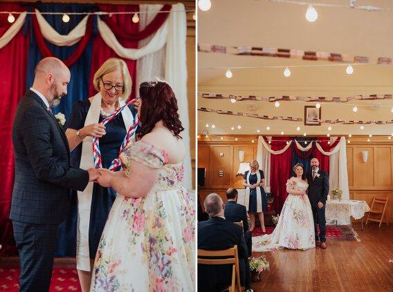 1940s VE day wedding