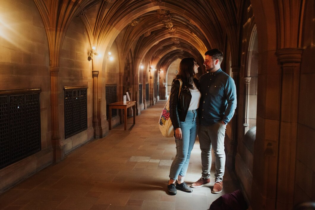john rylands library engagement shoot